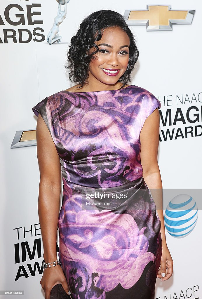 Tatyana Ali arrives at the 44th NAACP Image Awards held at The Shrine Auditorium on February 1, 2013 in Los Angeles, California.