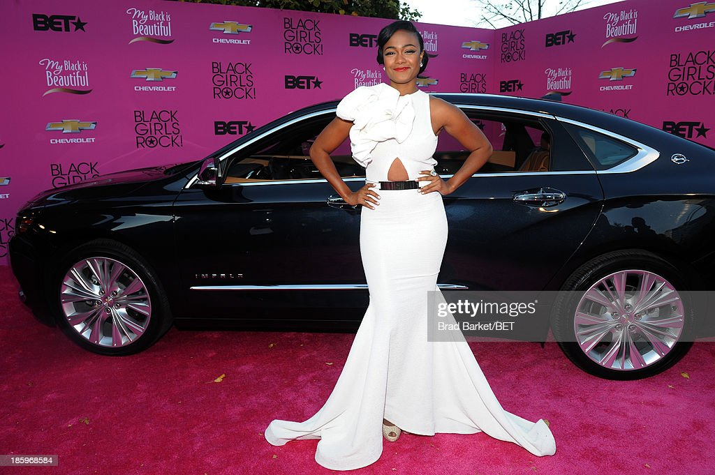 Tatyana Ali attends BET Black Girls Rock CoverGirl Style Stage On The Red Carpet at New Jersey Performing Arts Center on October 26, 2013 in Newark, New Jersey.