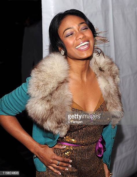 Tatyana Ali attends GlobalGrindcom Presents Russell Simmons Salute to Grammy Nominees at a private residence on February 8 2009 in Beverly Hills...