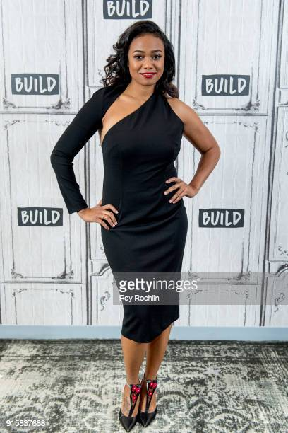Tatyana Ali discusses American Heart Association's Go Red campaign with the Build Series at Build Studio on February 8 2018 in New York City