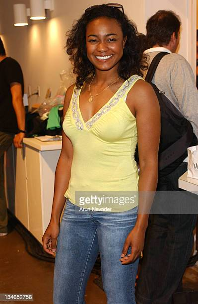 Tatyana Ali during MercedesBenz Fall 2005 LA Fashion Week at Smashbox Studios Rebecca Beeson Backstage at Smashbox Studios in Culver City California...