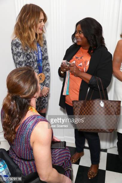 Tatyana McFadden Amy Purdy and Octavia Spencer attend The 6th Annual 'Gold Meets Golden' Brunch hosted by Nicole Kidman and Nadia Comaneci and...