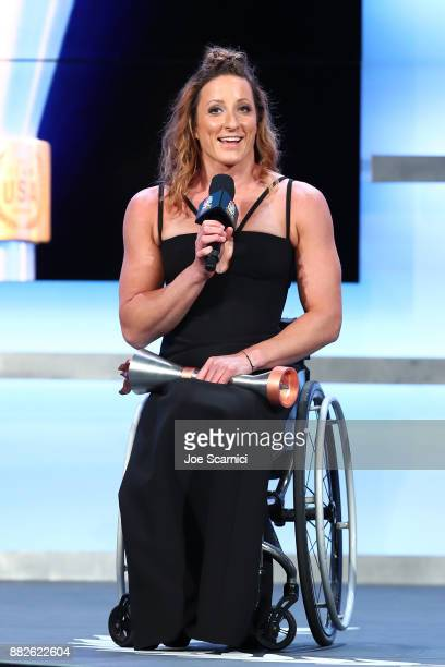 Tatyana McFadden is seen on stage during the 2017 Team USA Awards on November 29 2017 in Westwood California