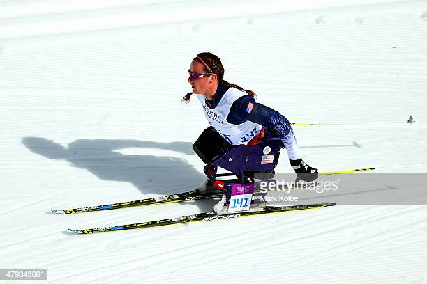 Tatyana McFadden of the United States competes in the Women's Cross Country 5km - Sitting on day nine of the Sochi 2014 Paralympic Winter Games at...
