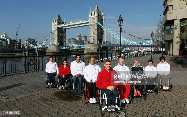 Tatyana McFadden of the USA Shirley Reilly of the USA Ernst van Dyk of South Africa Masazumi Soejima of Japan David Weir of Great Britain and...