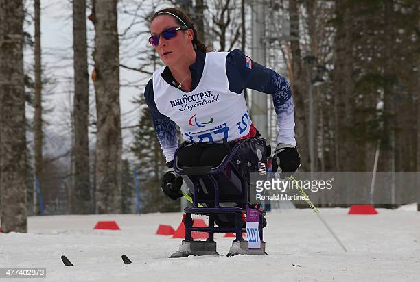 Tatyana McFadden of USA competes in the Women's 12km Sitting Cross-Country Skiing event during day two of Sochi 2014 Paralympic Winter Games at Laura...