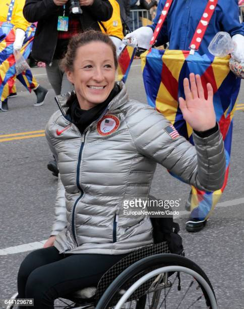 Tatyana McFadden participates in the 90th Macys Thanksgiving Day Parade in New York City New York November 24 2016