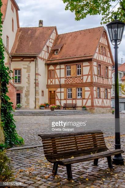 タウバービショフスハイム内城 (ドイツ ・ バーデン = ヴュルテンベルク州) - ハーフティンバー様式 ストックフォトと画像