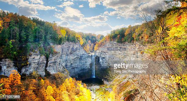 taughannock falls - finger lakes stock pictures, royalty-free photos & images