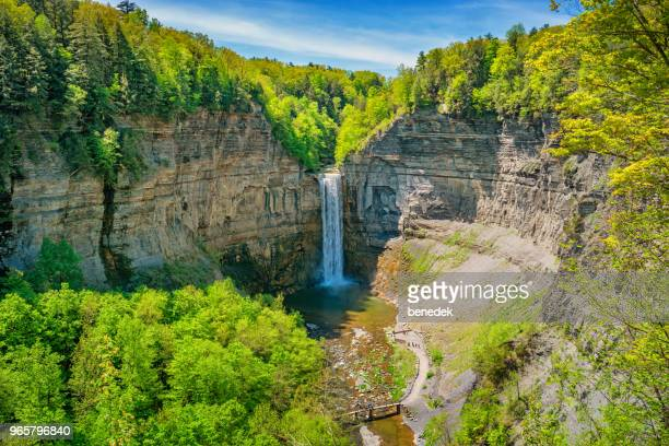 taughannock falls state park in finger lakes region upstate new york - state park stock pictures, royalty-free photos & images