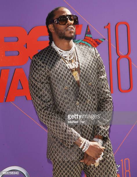 Tauheed Epps aka 2 Chainz arrives to the 2018 BET Awards held at Microsoft Theater on June 24 2018 in Los Angeles California