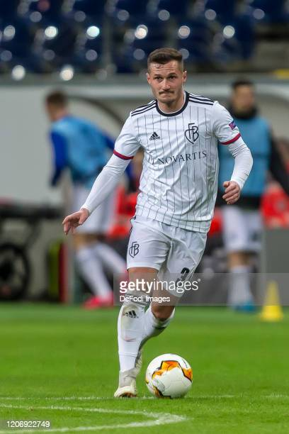 Taulant Xhaka of FC Basel 1893 controls the Ball during the UEFA Europa League round of 16 first leg match between Eintracht Frankfurt and FC Basel...