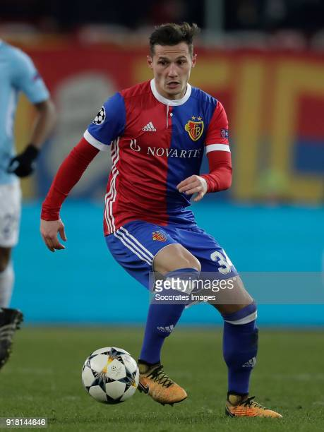 Taulant Xhaka of FC Basel during the UEFA Champions League match between Fc Basel v Manchester City at the St JakobPark on February 13 2018 in Basel...