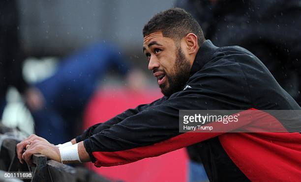 Taulupe Faletau of Newport Gwent Dragons during the European Rugby Challenge Cup match between Newport Gwent Dragons and Pau at Rodney Parade on...
