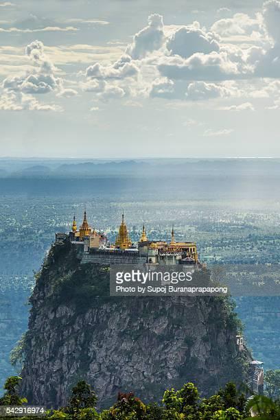Taung Kalat temple on Mount Popa in bagan myanmar
