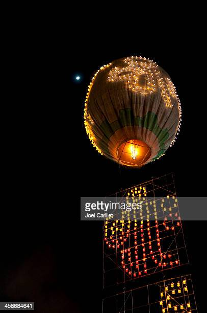 taunggyi balloon festival in myanmar - balloon fiesta stock pictures, royalty-free photos & images