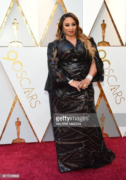 Taura Stinson arrives for the 90th Annual Academy Awards on March 4 in Hollywood California / AFP PHOTO / VALERIE MACON