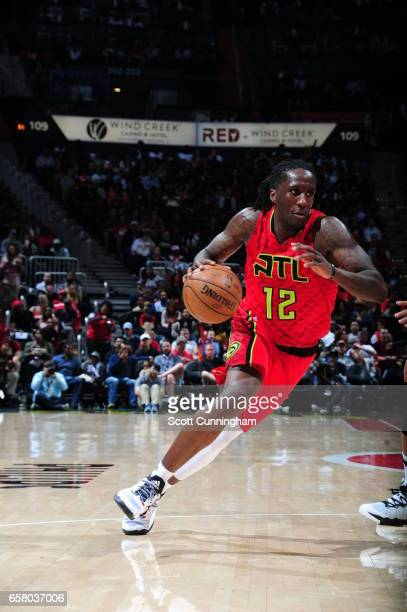 Taurean Prince of the Atlanta Hawks drives to the basket against the Brooklyn Nets on March 26 2017 at Philips Arena in Atlanta Georgia NOTE TO USER...