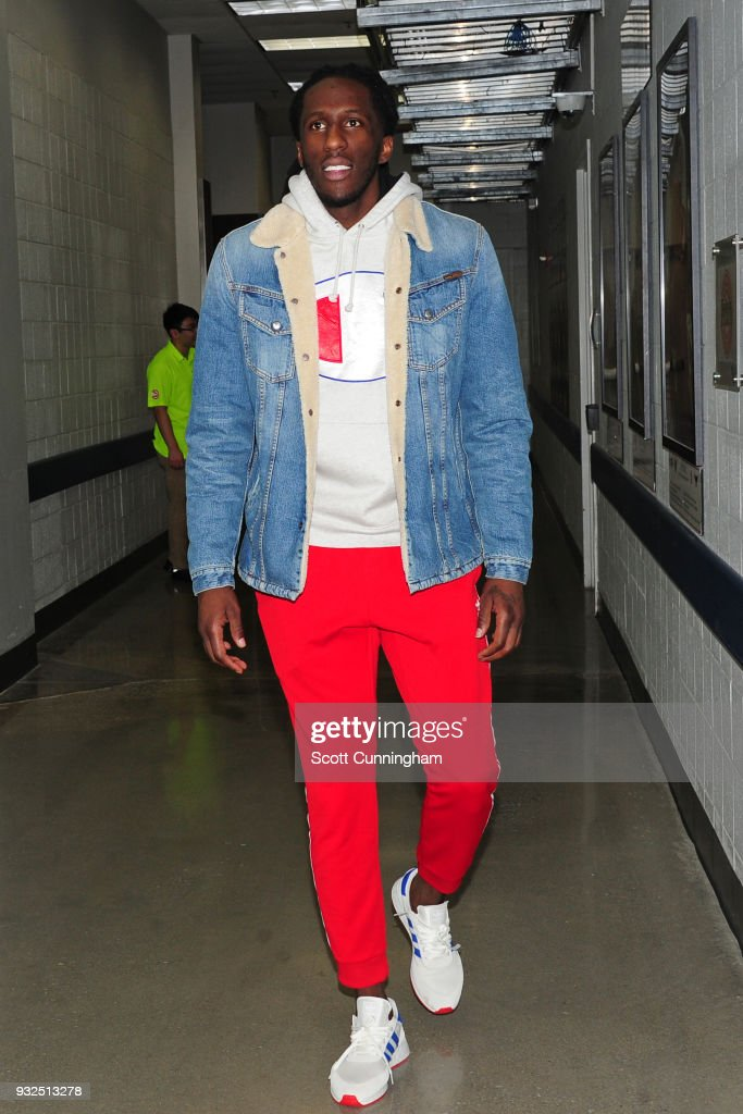 Taurean Prince #12 of the Atlanta Hawks exits the arena after the game against the Oklahoma City Thunder on March 13, 2018 at Philips Arena in Atlanta, Georgia.
