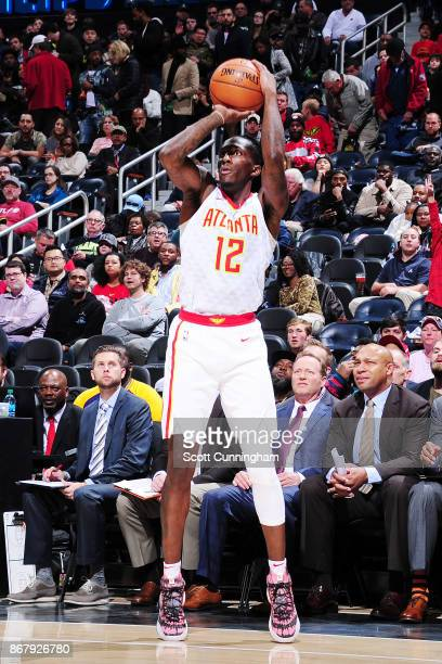 Taurean Prince of the Atlanta Hawks handles the ball against the Milwaukee Bucks on October 29 2017 at Philips Arena in Atlanta Georgia NOTE TO USER...