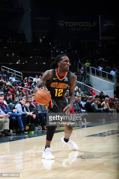 Taurean Prince of the Atlanta Hawks handles the ball against the Brooklyn Nets on December 4 2017 at Philips Arena in Atlanta Georgia NOTE TO USER...