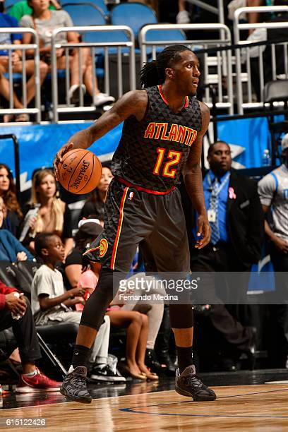 Taurean Prince of the Atlanta Hawks handles the ball during a preseason game against the Orlando Magic on October 16 2016 at Amway Center in Orlando...