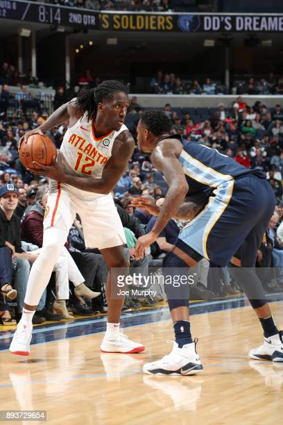 Taurean Prince of the Atlanta Hawks jocks for a position against the Memphis Grizzlies on December 15 2017 at FedExForum in Memphis Tennessee NOTE TO...