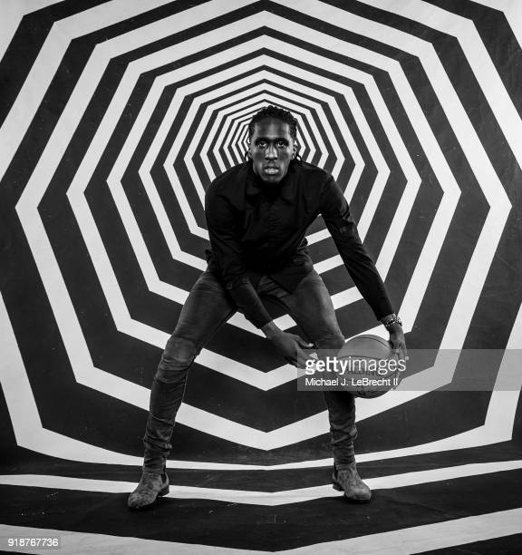 Taurean Prince of the Atlanta Hawks poses for a portrait as part of the 2018 NBA AllStar Weekend on February 15 2018 at the Mariott in Los Angeles...