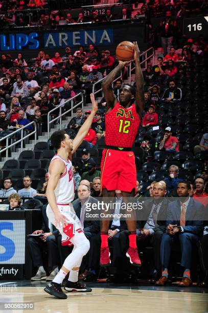 Taurean Prince of the Atlanta Hawks shoots the ball against the Chicago Bulls on March 11 2018 at Philips Arena in Atlanta Georgia NOTE TO USER User...