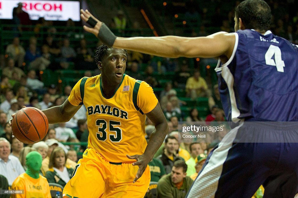Taurean Prince #35 of the Baylor Bears drives to the basket against the TCU Horned Frogs on January 11, 2014 at the Ferrell Center in Waco, Texas.