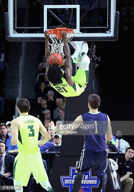 Taurean Prince of the Baylor Bears dunks the ball in the first half against the Yale Bulldogs during the first round of the 2016 NCAA Men's...