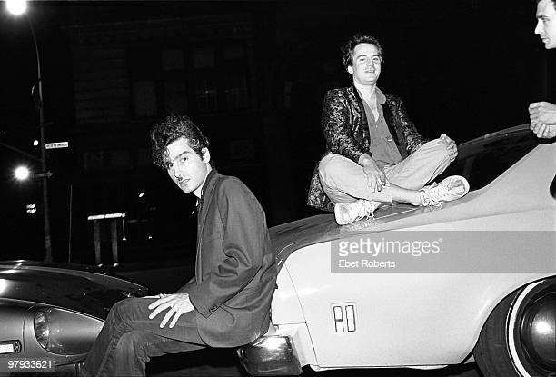 NEW YORK AUGUST 09 Tav Falco and Alex Chilton of The Panther Burns posed outside The Ritz in New York on August 09 1980