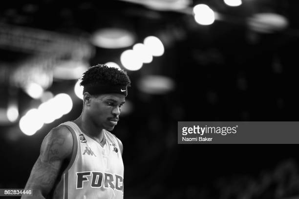 Tavarion Nik of Leeds Force looks on during a British Basketball League match between London Lions and Leeds Force at the Copper Box Arena on October...