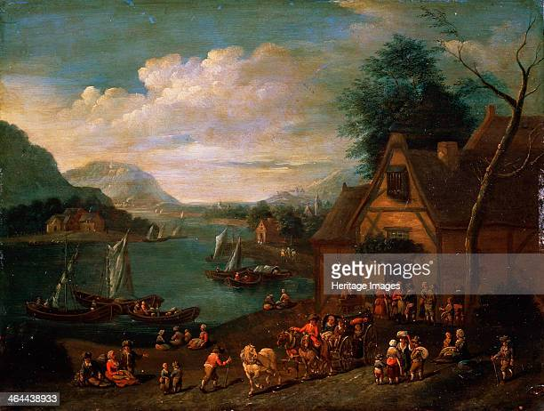 'A Tavern at the Seashore' c16thc18th century Found in the collection of the State Museum Arkhangelskoye Estate Moscow