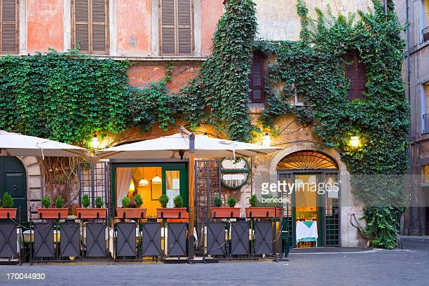 tavern, rome, italy - facade stock pictures, royalty-free photos & images