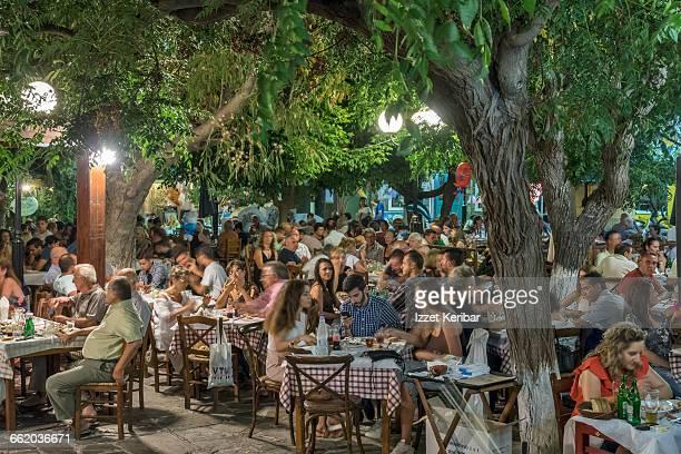 Taverna at Karlovasi Samos island, Greece