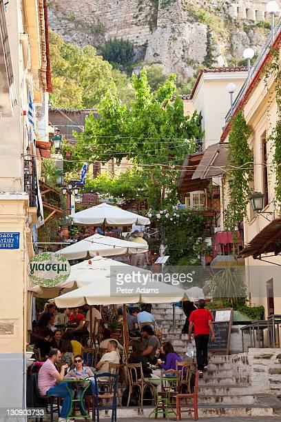 Taverna, Cafe below Acropolis, Plaka, Athens