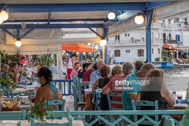 Taverna evening time, Kokkari village Samos island
