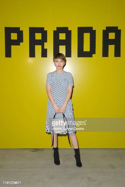 Tavi Gevinson attends the Prada Show during Milan Fashion Week Fall/Winter 2019/20 on February 21 2019 in Milan Italy