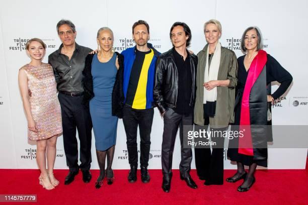 "Tavi Gevinson, Roland Ballester, Alva Chinn, Paul Dallas, Frédéric Tcheng, Karen Bjornson and Lesley Frowick attend ""Halston"" screening during the..."