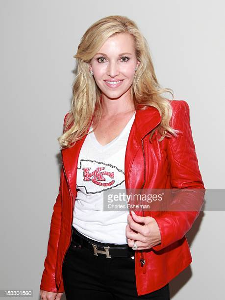 Tavia Hunt attends the Limited Edition Marchesa/NFL Collaboration Launch at National Football League on October 2 2012 in New York City