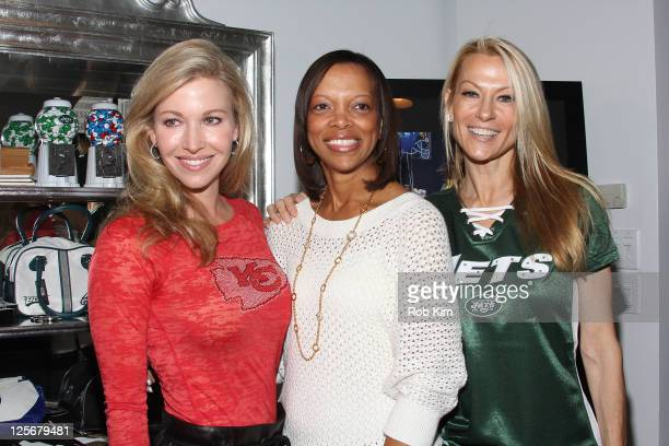 Tavia Hunt Gwen Reese and Suzanne Johnson visit the NFL Style Suite at the Bryant Park Hotel on September 20 2011 in New York City