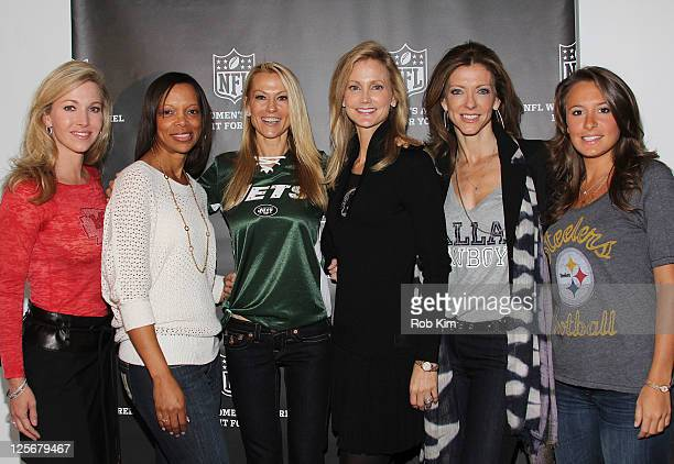 Tavia Hunt Gwen Reese Suzanne Johnson Tanya Snyder Charlotte Jones Anderson and Meghan Rooney visit the NFL Style Suite at the Bryant Park Hotel on...