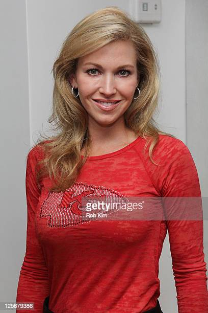 Tavia Hunt of the Kansas City Chiefs visits the NFL Style Suite at the Bryant Park Hotel on September 20 2011 in New York City