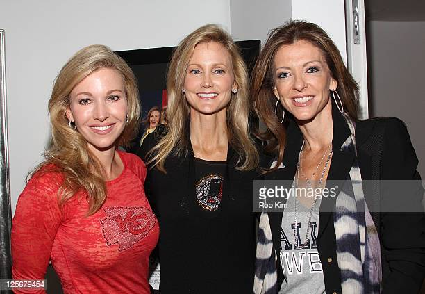 Tavia Hunt Tanya Snyder and Charlotte Jones Anderson visit the NFL Style Suite at the Bryant Park Hotel on September 20 2011 in New York City