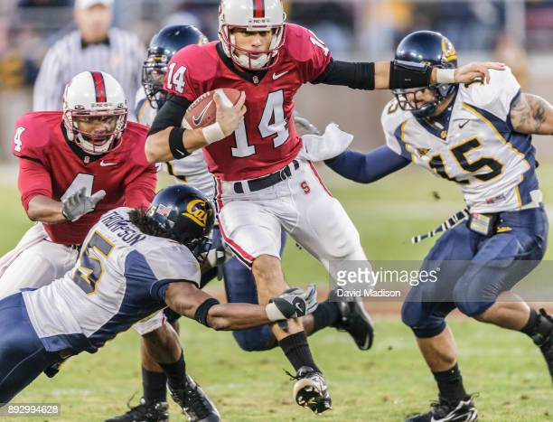 Tavita Pritchard of the Stanford Cardinal plays in the annual Big Game against the California Golden Bears on December 1, 2007 at Stanford Stadium in...