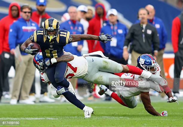 Tavon Austin of Los Angels Rams runs the ball during the NFL International Series match between New York Giants and Los Angeles Rams at Twickenham...