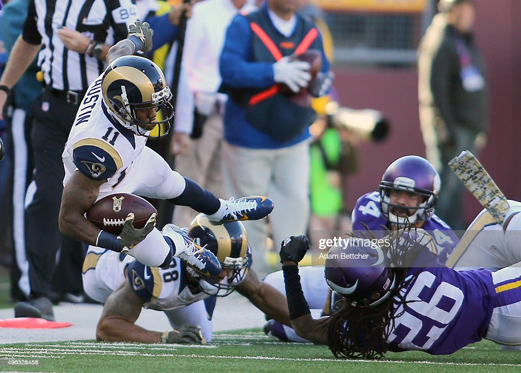 Tavon Austin Of The St Louis Rams Gets Tripped Up By Trae Waynes Of