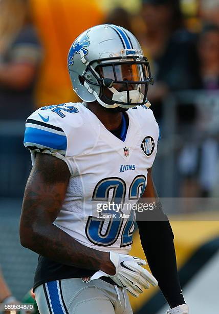 Tavon Wilson of the Detroit Lions in action during the game against the Pittsburgh Steelers on August 12 2016 at Heinz Field in Pittsburgh...
