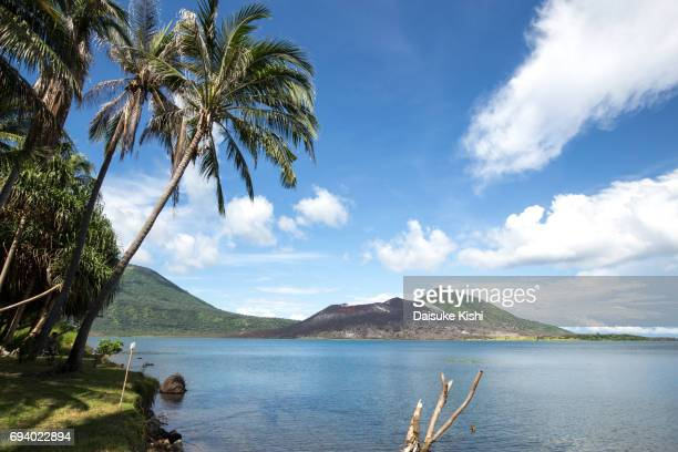 tavurvur volcano in rabaul, papua new guinea - papua new guinea stock pictures, royalty-free photos & images
